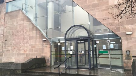 Nottingham Crown Court where the East Harling murder trial is taking place. Photo Peter Walsh.