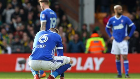 Adam Webster eventually had to give up on the goal-kick he hoped for, as Ipswich Town blew it agains