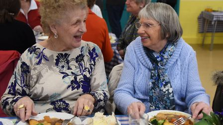Diners enjoying a chat at the Wymondham Community Kitchen lunch for those who live alone. Picture: D