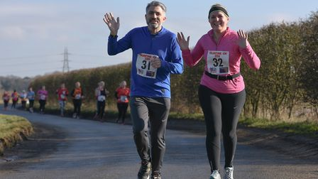 Stephen and Wendy Barker at the Valentine 10K. Picture: Ian Edwards Photography