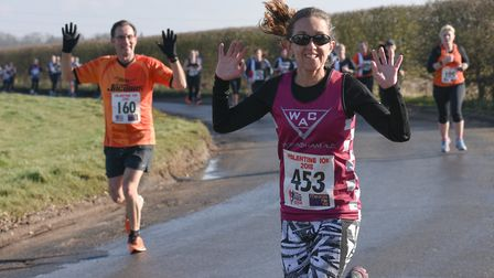 Wymondham Athletic Club's Hannah Purvis gives the camera a wave. Picture: Ian Edwards Photography