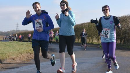 Sam Rogers, left, and Miranda Taylor, right at the Valentine 10K. Picture: Ian Edwards Photography
