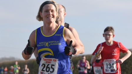 Kathryn Head of North Norfolk Beach Runners finished in 47:31. Picture: Ian Edwards Photography