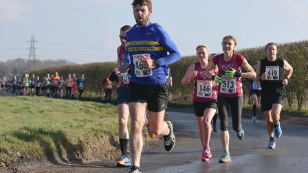 Matthew Reynolds of Lowestoft Road Runners in action at the Valentine 10K. Picture: Ian Edwards Phot