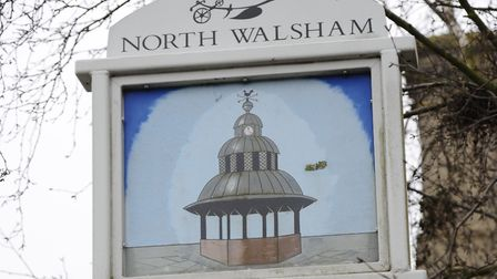 The open day will be held in North Walsham - the town sign. Picture: MARK BULLIMORE