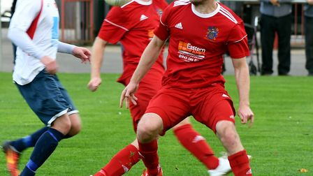 Alex Beck's late goal against Newport Pagnell earned a point for Wisbech Town. Picture: Ian Carter