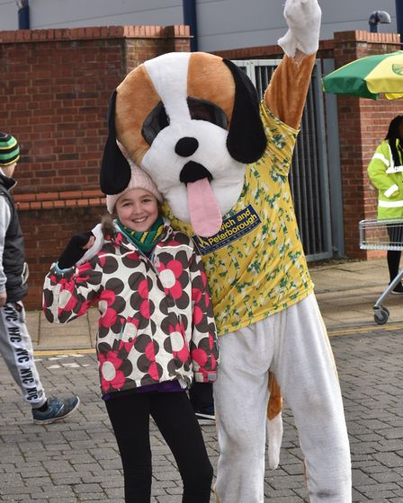 Fans ahead of the NCFC v Ipswich Derby Lucy JamesByline: Sonya DuncanCopyright: Archant 2018