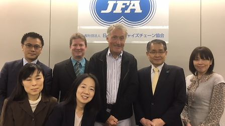 Law firm Leathes Prior met with franchising experts from Japan. From left are: (back row) Ryuichi N