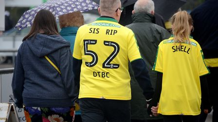 Funeral of NCFC fan Michelle Dack.Picture: ANTONY KELLY