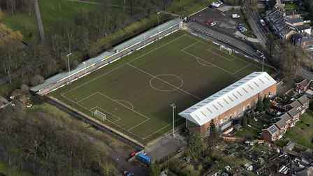 Aerial view of the Walks football ground in King's Lynn. Picture: John Fielding