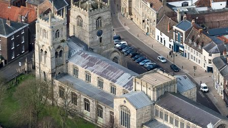 Aerial view of King's Lynn Minister. Picture: John Fielding