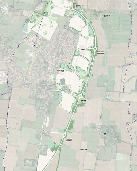 Overview of the Long Stratton bypass: Picture: Norfolk Homes Limited and Norfolk Land Limited