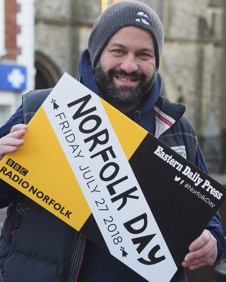 Charlie Hodson, executive chef at the Fur & Feather, supporting Norfolk Day at the Eastern Daily Pre