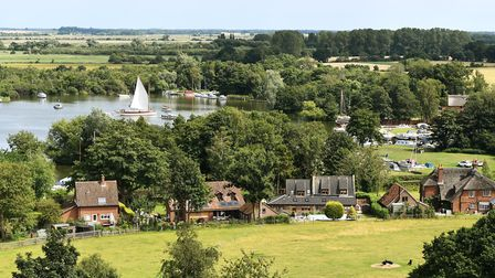 The far reaching view across Malthouse Broad from St Helens Church in Ranworth. Picture: James Bass