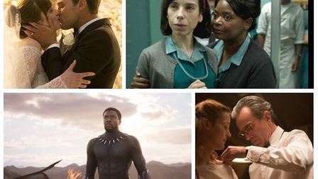 Fifty Shades Freed, The Shape of Water, Black Panther and Phantom Thread. Photos: Universal/Disney/2