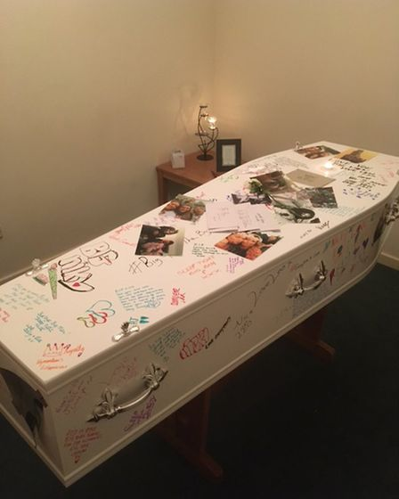 Friends wrote tributes on Nick's casket (Collect/PA Real Life)