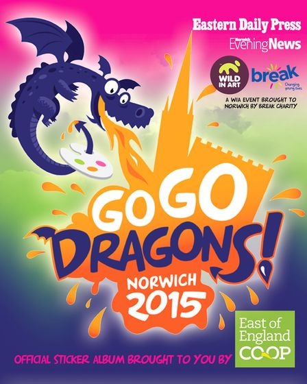 The GoGoDragons! sticker book that celebrated the 2015 art trail through Norwich.