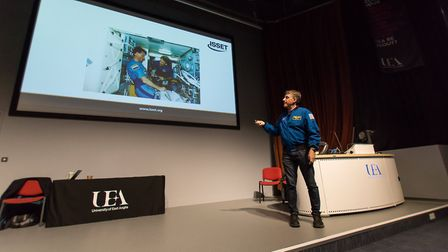 More than 500 people visited the University of East Anglia (UEA) to meet one of NASAs most experienc
