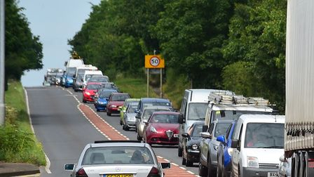 Archive photo of traffic along the A146 between Lowestoft and Norwich. Picture: NICK BUTCHER