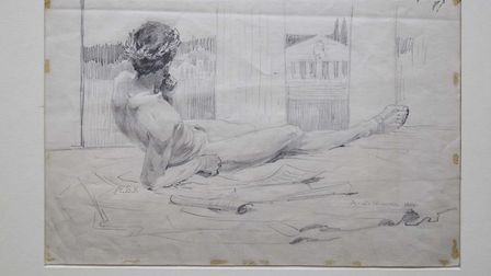 Fourteen drawings by artist Sir Alfred Munnings from his time at the then Norwich School of Art have
