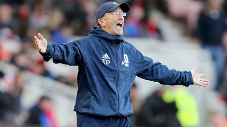 Tony Pulis is trying to guide Boro into the promotion shake-up. Picture: PA