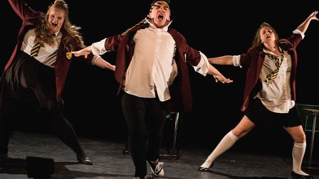 Jake Addley, Rosalind Seal and Nicole Black in Blackeyed Theatre productuion of Teechers. Photo: Ale