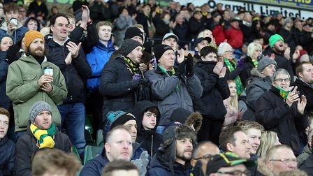 Fans at Carrow Road applaud one of their own - Norwich City super fan Michelle Dack, who died on Tue