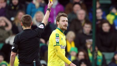Tom Trybull doesn't appear too fussed with his booking, as he helped Norwich City earn an excellent