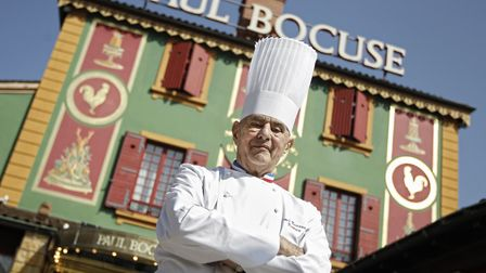 Much-mourned: Celebrated French Chef Paul Bocuse poses outside his famed Michelin three-star restaur
