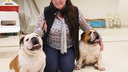 Sugar, left, and Wallie, taking part in the doggy auditions for Legally Blonde at the Theatre Royal,