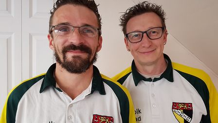 Jason Woods and David Lamb helped Halvergate to victory over Hevingham. Picture: Teresa Goldsmith