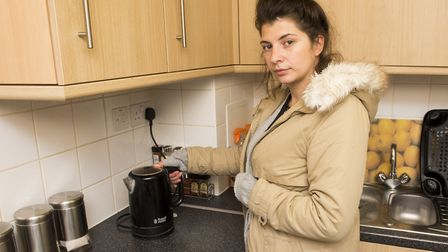 Poppy Taylor has been left with no central heating or hot water since last October. She has been tol