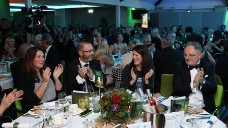 Guests having dinner at the 2016 Tourism Awards. Picture: Kieron Tovell