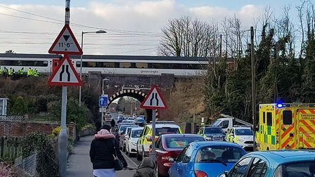 A person has been hit by a train near Norwich Photo: Phil Mottershead