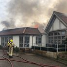 Norfolk Fire Service attending to a serious fire at Breckland Lodge. Photo: Norfolk Fire Service