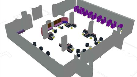 How the new customer centre at City Hall could look. Picture: Norwich City Council