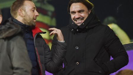 City head coach Daniel Farke was an interested spectator during the Canaries' FA Youth Cup fifth rou