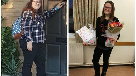 19-year-old Ebony Warnes says 'life is completely different' for her after losing 6.5 stone. Photos