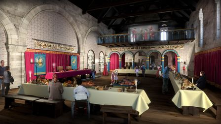 How the recreated Great Hall in Norwich Castle's Keep could look. Pic: Haley Sharpe Design