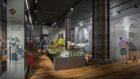 An illustration of how the displays in the revamped Norwich Castle Keep could look. Pic: Haley Sharp