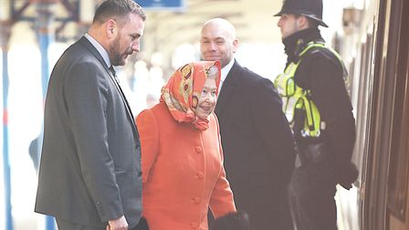 HM the Queen caught the 10:54 train from King's Lynn to King's Cross on Wednesday morning. Picture: