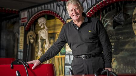 Nipper Appleton, whose family have been part of the fair for five generations, with his Ghost Train