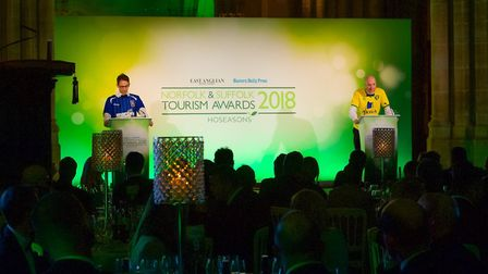 Norfolk and Suffolk Tourism Awards 2018 at St Edmundsbury Cathedral in Bury St Edmunds.Pictured are