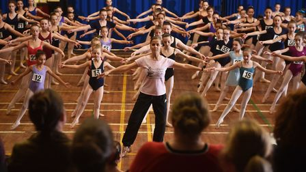 Auditions for the English Youth Ballet's production of Cinderella.Picture: ANTONY KELLY