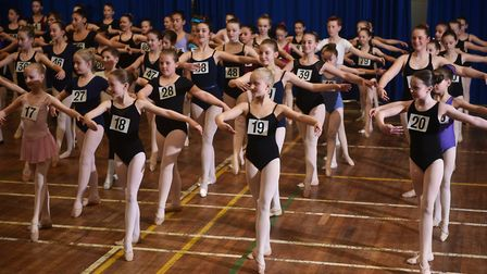 Auditions for the English Youth Ballet's production of Cinderella. Picture: ANTONY KELLY