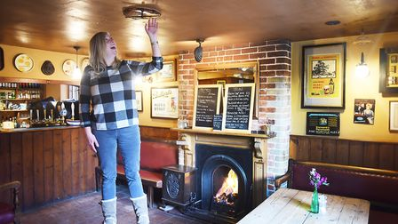 The Three Horseshoes pub at Warham has a rare example of an old pub game called twister or Norfolk W
