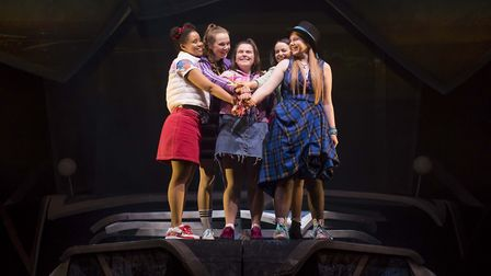 Rachelle Diedericks, Sarah Kate Howarth, Faye Christall, Lauren Jacobs and Katy Clayton in The Band.