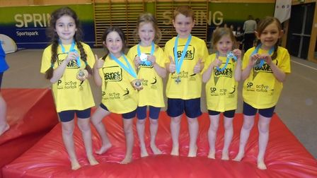 Successful gymnasts at Rollesby Primary School. Picture: Rollesby Primary School