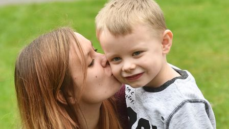 Aiden Brett alerted his mum and nanny to a fire over the road whilst he was watching the storm last