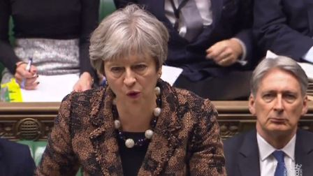 Prime Minister Theresa May speaks during Prime Minister's Questions. Photo: PA Wire